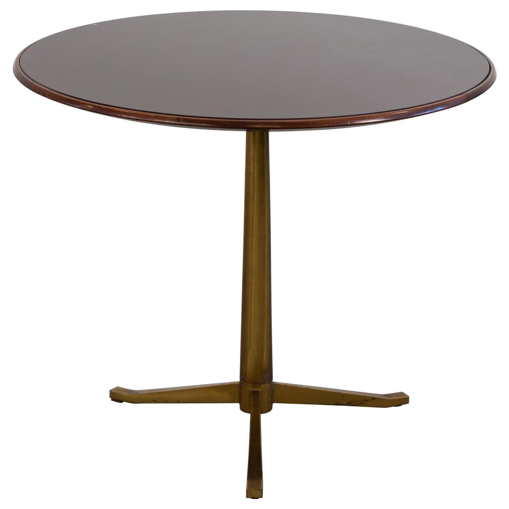Osvaldo Borsani Coffee Table in Walnut and Crystal Borsani Varedo Production