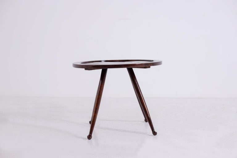 Mid-Century Modern Osvaldo Borsani Coffee Table, in Walnut Great Quality, 1950s For Sale