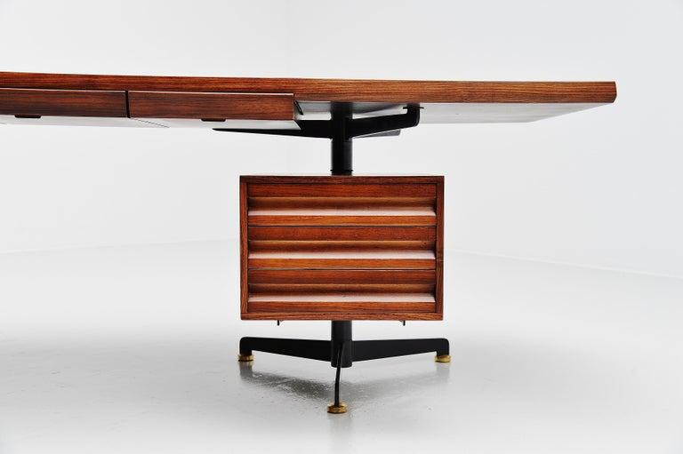 Osvaldo Borsani Conference Desk Table Tecno, Italy, 1954 For Sale 3