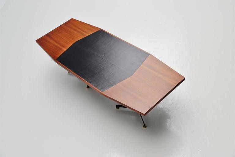 Mid-Century Modern Osvaldo Borsani Conference Desk Table Tecno, Italy, 1954 For Sale