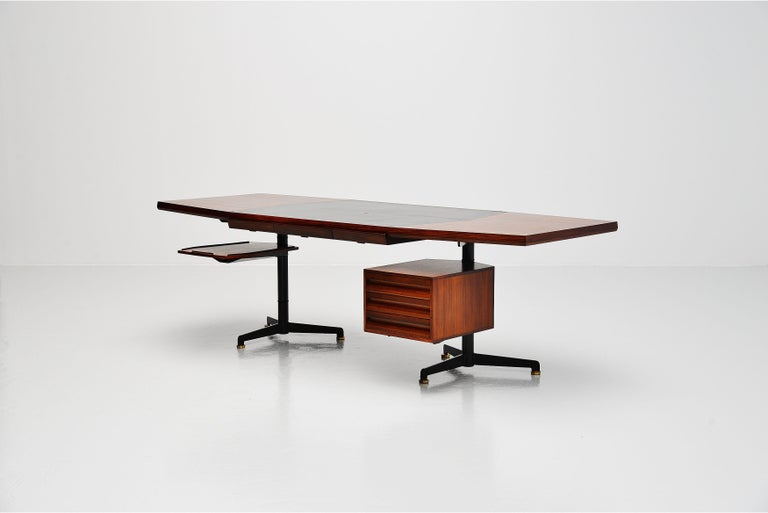 Italian Osvaldo Borsani Conference Desk Table Tecno, Italy, 1954 For Sale
