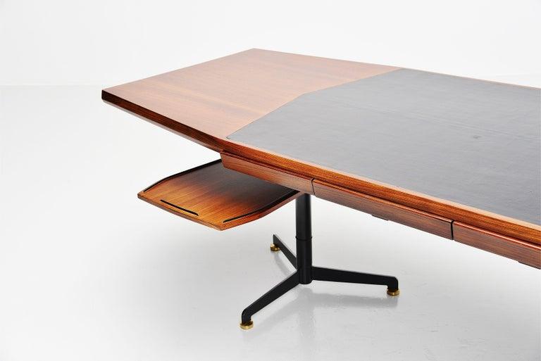 Metal Osvaldo Borsani Conference Desk Table Tecno, Italy, 1954 For Sale