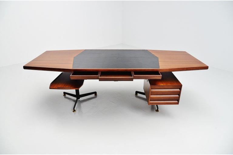 Osvaldo Borsani Conference Desk Table Tecno, Italy, 1954 For Sale 2