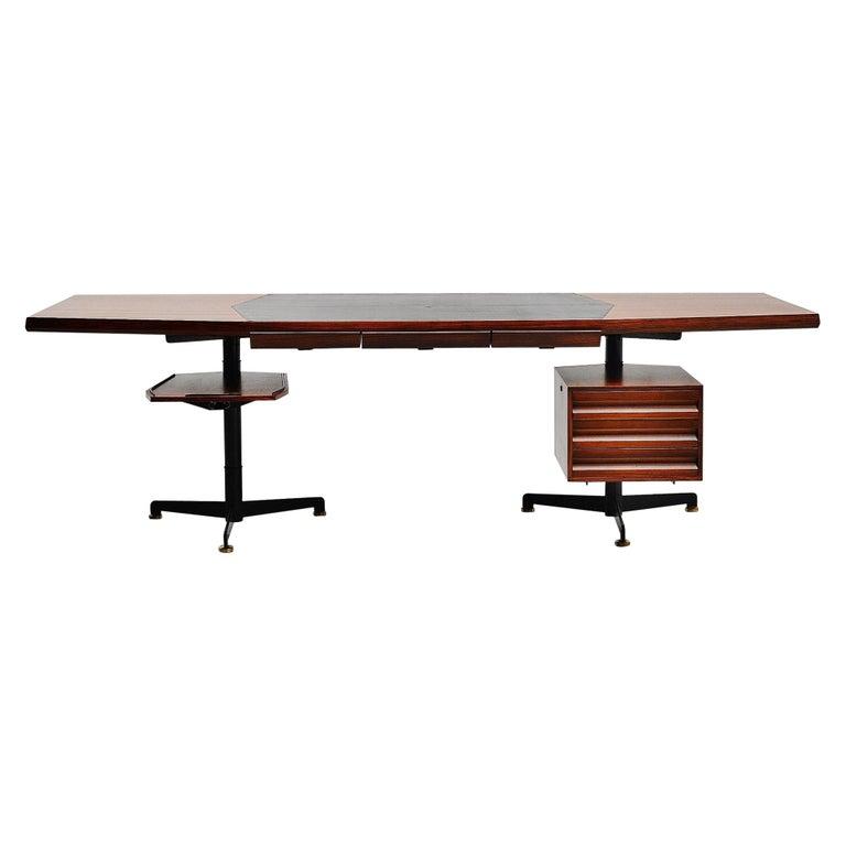 Osvaldo Borsani Conference Desk Table Tecno, Italy, 1954 For Sale