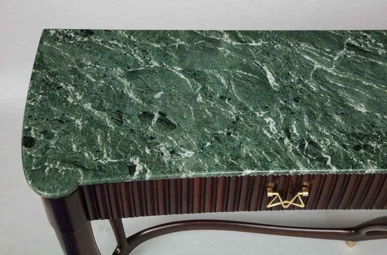Brass Osvaldo Borsani Console Table For Sale