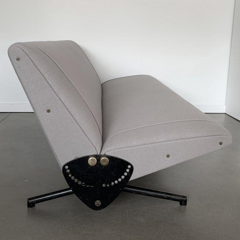 Steel Osvaldo Borsani D70 Daybed Sofa for Tecno For Sale