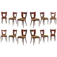 Osvaldo Borsani Dining Chairs in Mahogany