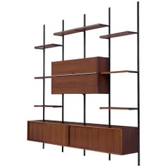 Osvaldo Borsani E22 Modular Wall Unit in Walnut