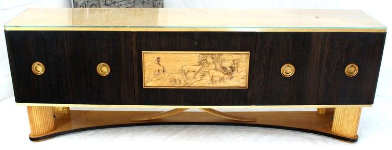 Osvaldo Borsani Extra Long Sideboard Bar Cabinet Credenza Italian Modern For Sale 3