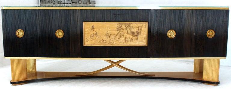 Osvaldo Borsani Extra Long Sideboard Bar Cabinet Credenza Italian Modern For Sale 4