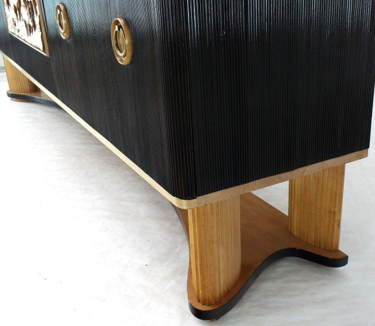 Osvaldo Borsani Extra Long Sideboard Bar Cabinet Credenza Italian Modern For Sale 7