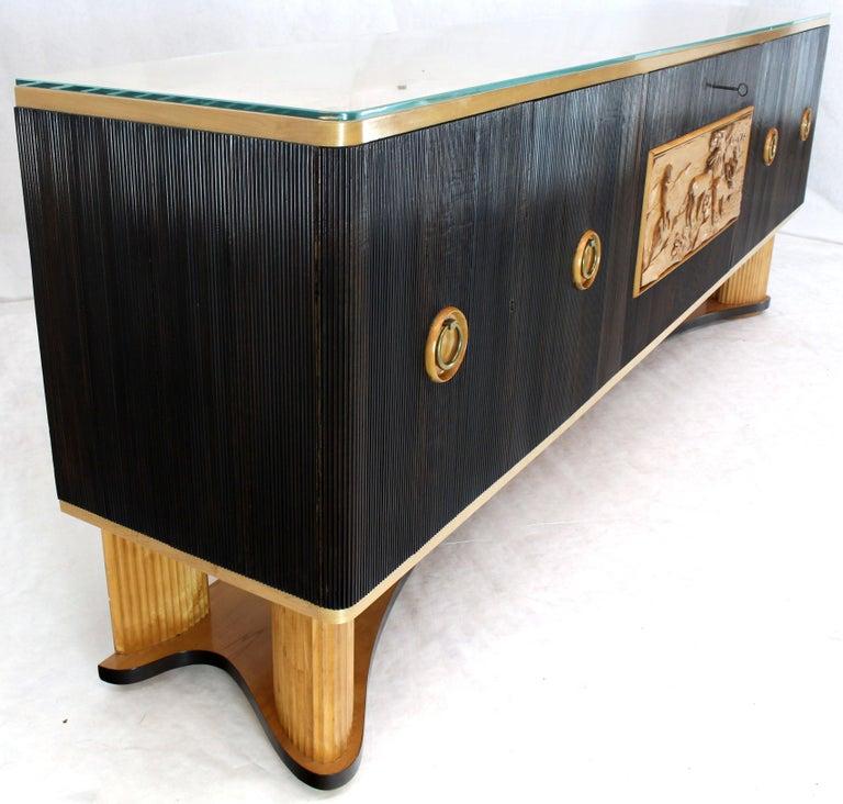 Osvaldo Borsani Extra Long Sideboard Bar Cabinet Credenza Italian Modern For Sale 8