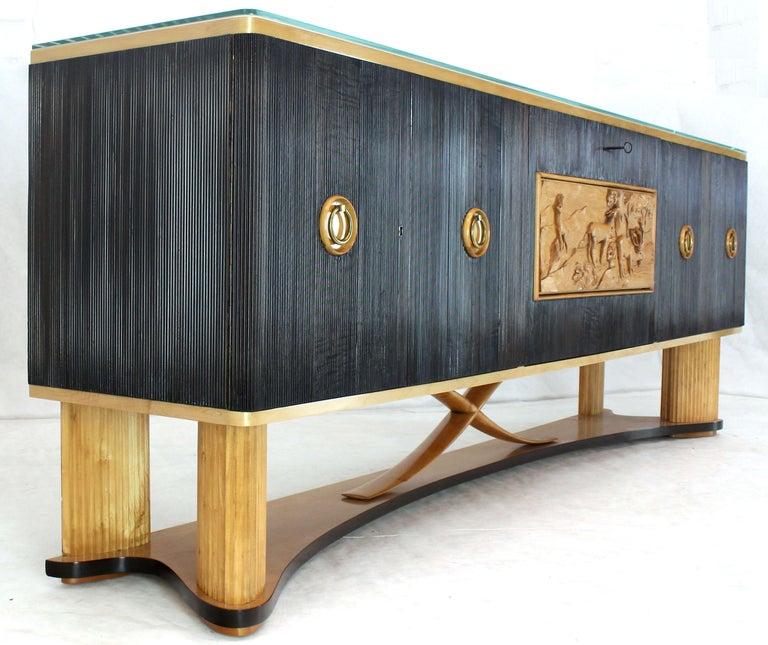 Osvaldo Borsani Extra Long Sideboard Bar Cabinet Credenza Italian Modern For Sale 10