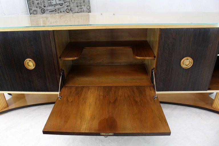 Osvaldo Borsani Extra Long Sideboard Bar Cabinet Credenza Italian Modern For Sale 11