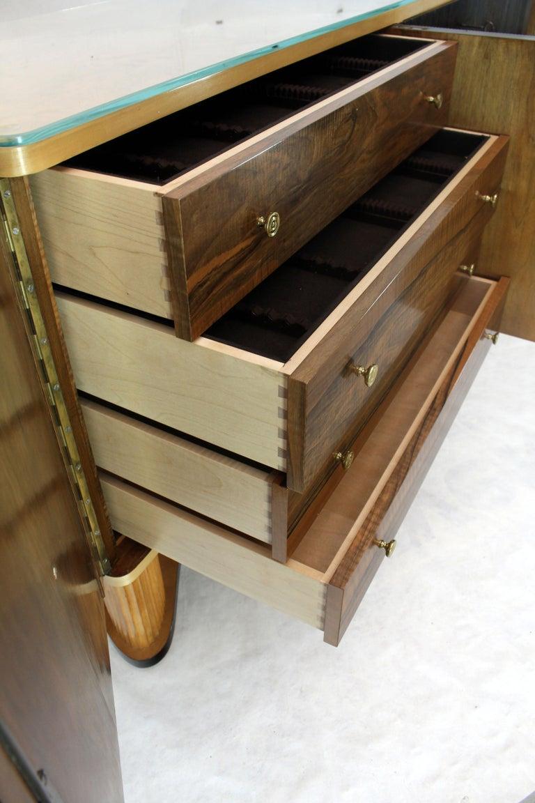 Lacquered Osvaldo Borsani Extra Long Sideboard Bar Cabinet Credenza Italian Modern For Sale