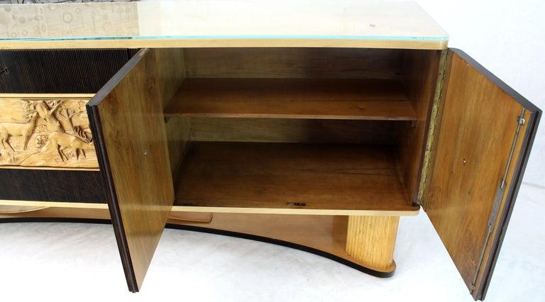 Osvaldo Borsani Extra Long Sideboard Bar Cabinet Credenza Italian Modern For Sale 1