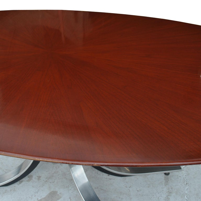Mid-Century Modern Stow Davis Oval Dining Conference Table For Sale