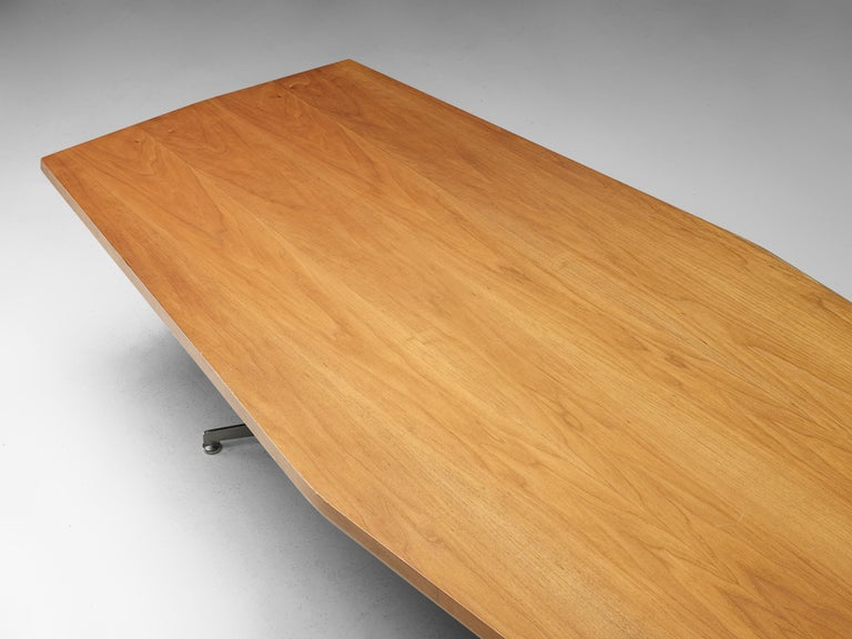 Mid-Century Modern Osvaldo Borsani for Tecno Converence Table in Mahogany For Sale