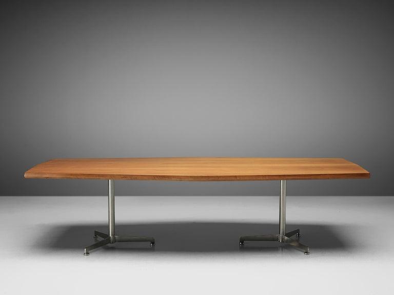 Italian Osvaldo Borsani for Tecno Converence Table in Mahogany For Sale