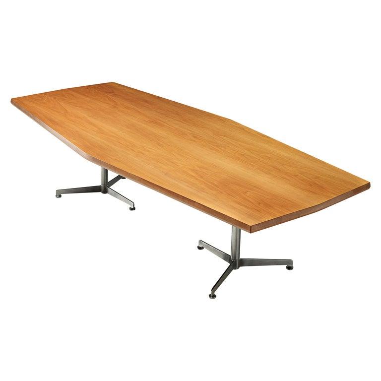 Osvaldo Borsani for Tecno Converence Table in Mahogany For Sale