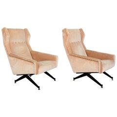 Osvaldo Borsani for Tecno Italian Vintage Armchairs Modern, Italy, 1950s, a Pair