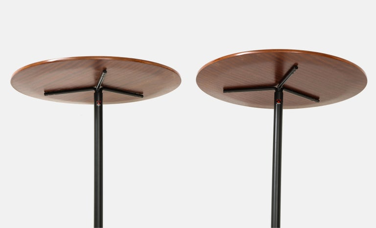 Osvaldo Borsani for Tecno Pair of Side Tables Model T44 In Excellent Condition For Sale In New York, NY