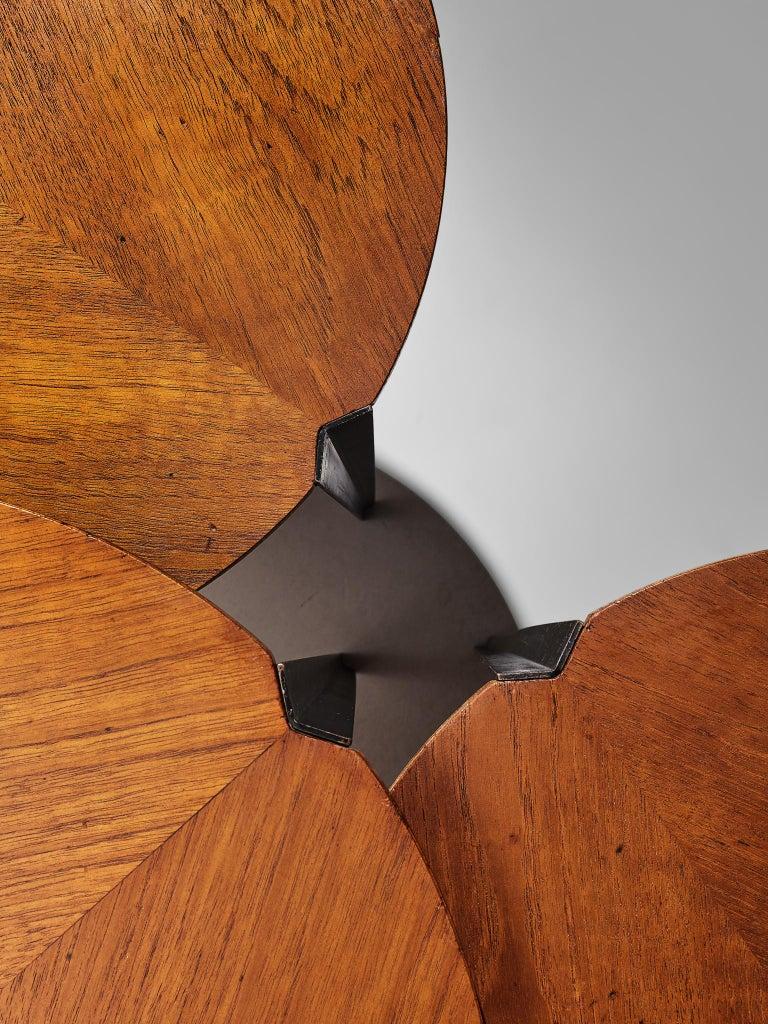 Italian Osvaldo Borsani for Tecno Set of Nesting Tables in Teak For Sale