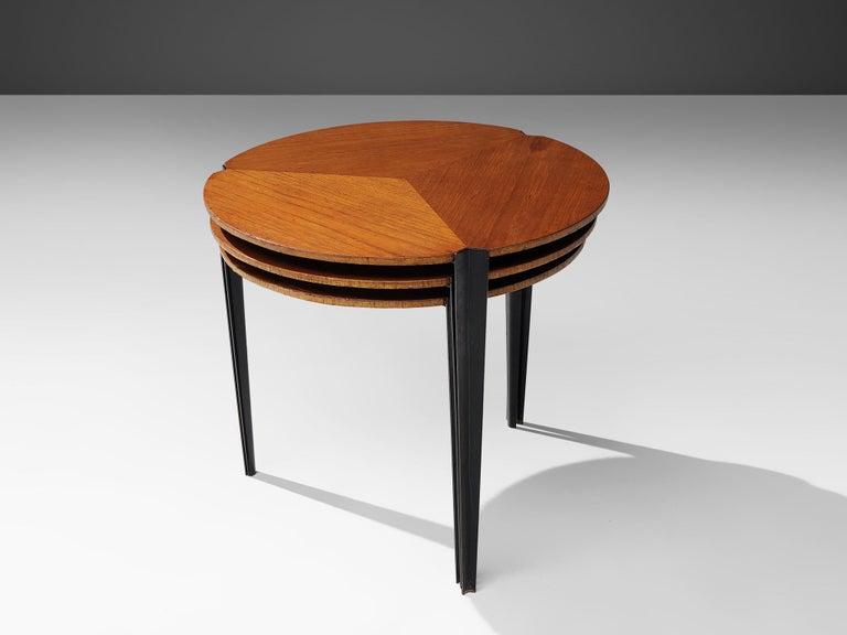 Osvaldo Borsani for Tecno Set of Nesting Tables in Teak For Sale 2