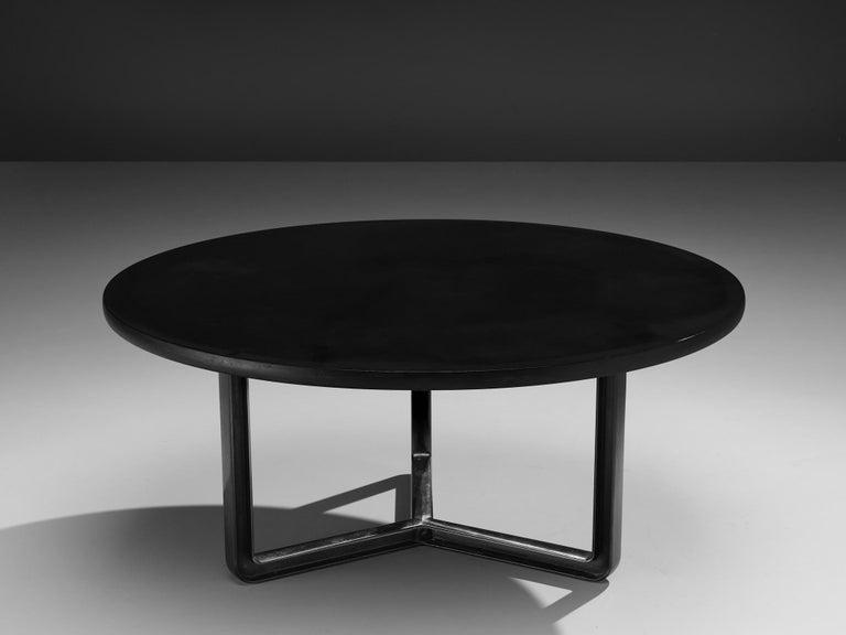 Italian Osvaldo Borsani for Tecno T334C Dining Table in Wood and Aluminium For Sale