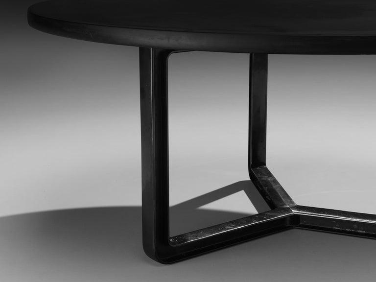 Aluminum Osvaldo Borsani for Tecno T334C Dining Table in Wood and Aluminium For Sale
