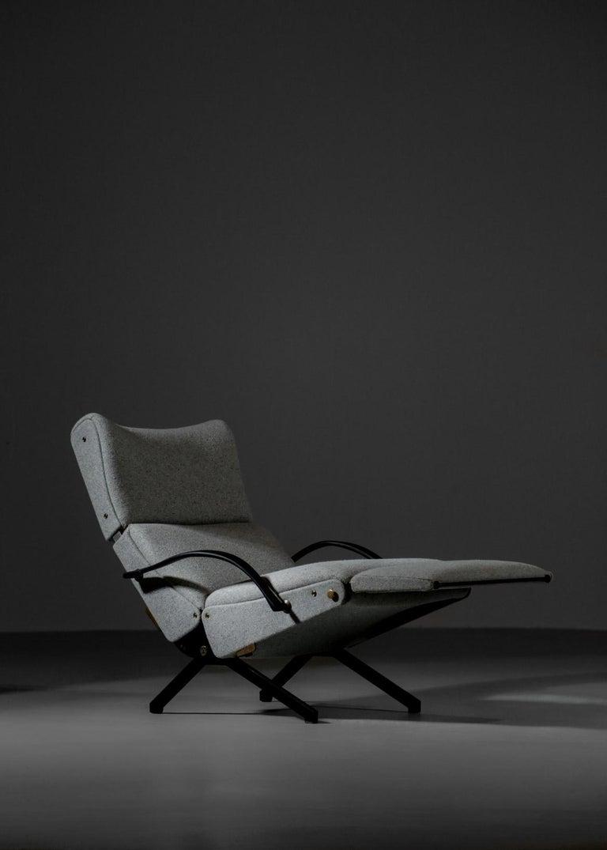 Mid-Century Modern Osvaldo Borsani Lounge Chair Model P40 for Tecno, Italy For Sale