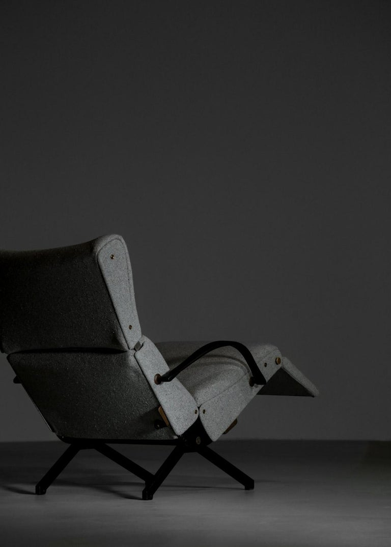 Metal Osvaldo Borsani Lounge Chair Model P40 for Tecno, Italy For Sale