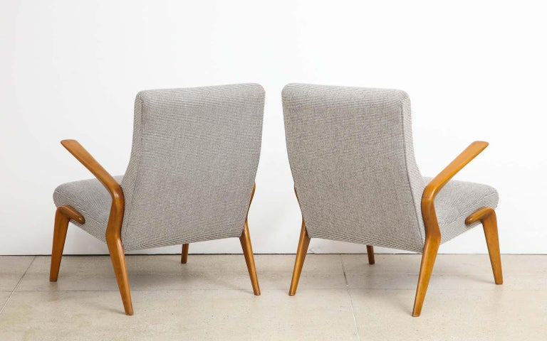 Osvaldo Borsani Lounge Chairs In Good Condition For Sale In New York, NY