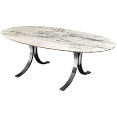 Osvaldo Borsani Marble 'T102' Table with Oval Top