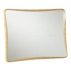 Osvaldo Borsani Mirror with Wooden Golden Frame ABV, 1950s