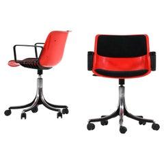 Osvaldo Borsani Office Chairs Model Modus Produced in Tecno in Italy