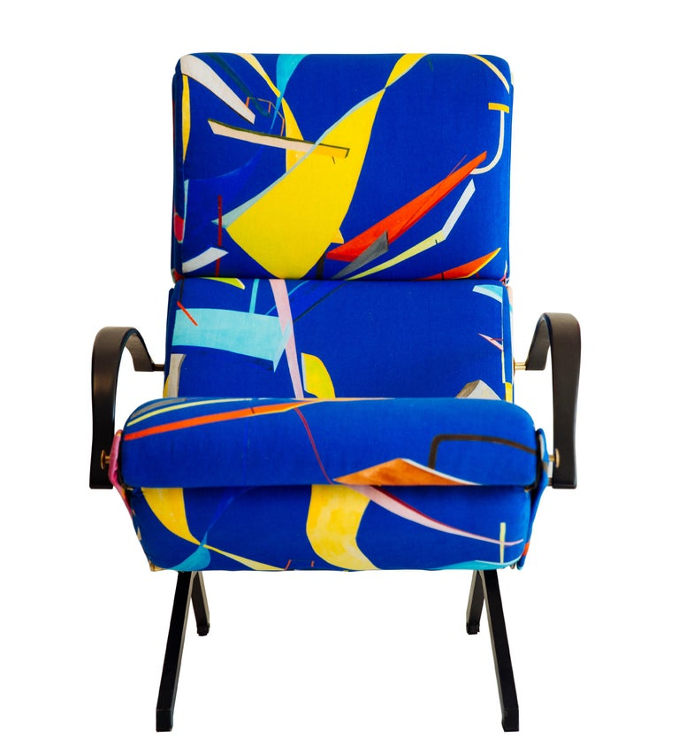 Mid-Century Modern Osvaldo Borsani P40 Lounge Chair for Tecno For Sale