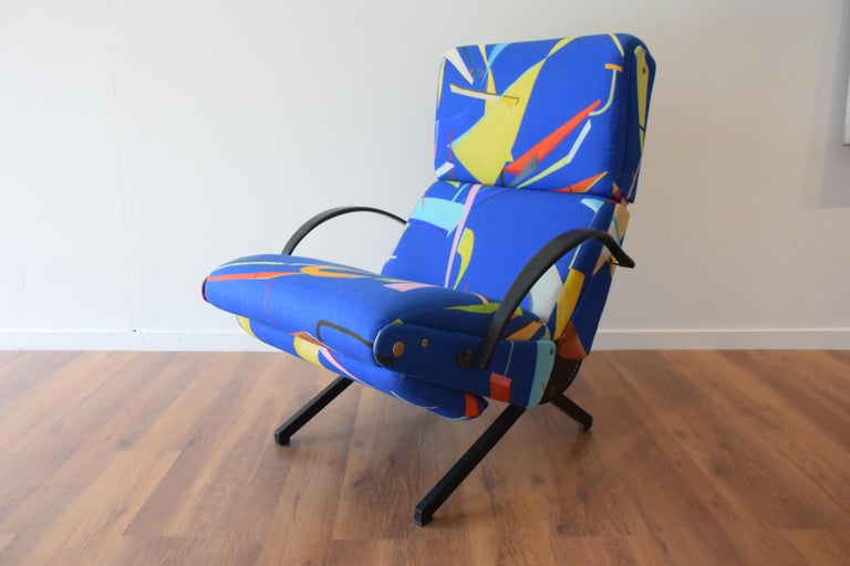 Polished Osvaldo Borsani P40 Lounge Chair for Tecno For Sale