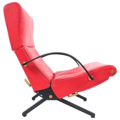 Osvaldo Borsani P40 Relaxing System Leather Armchair, Tecta, 1950, Italy