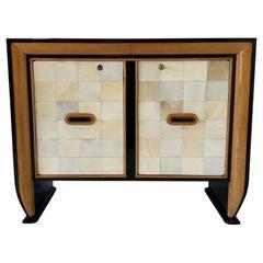 Osvaldo Borsani Parchment Cabinet, 1940s