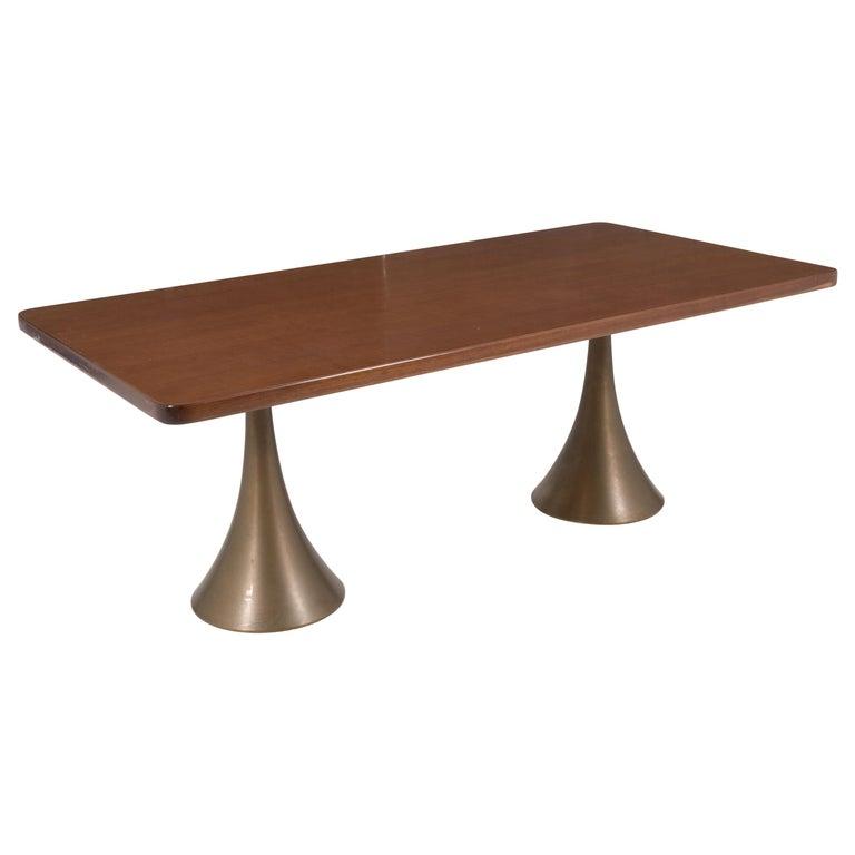 Osvaldo Borsani Rare Italian Table in Bronze, 1971 For Sale