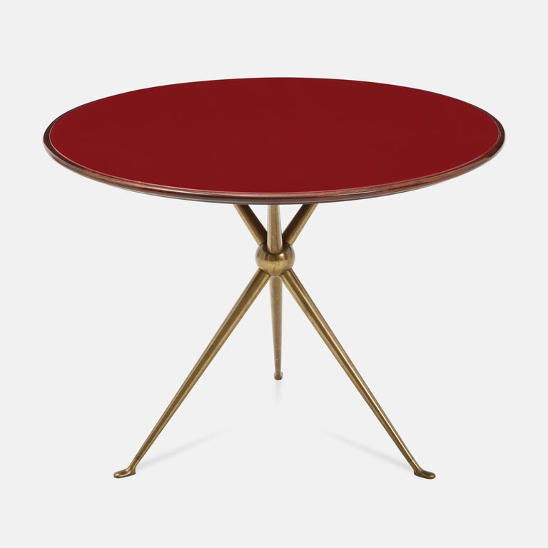 Mid-Century Modern Osvaldo Borsani Rare Pair of Side Tables For Sale