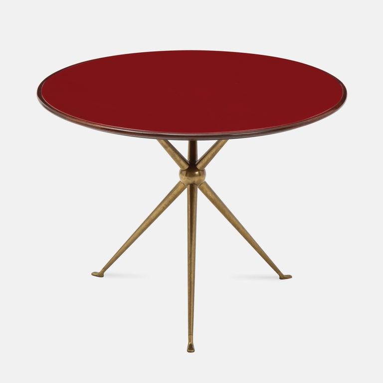 Italian Osvaldo Borsani Rare Pair of Side Tables For Sale