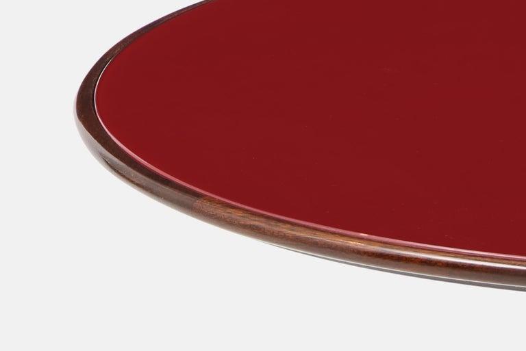 Polished Osvaldo Borsani Rare Pair of Side Tables For Sale