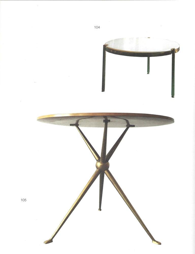 Brass Osvaldo Borsani Rare Pair of Side Tables For Sale