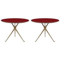 Osvaldo Borsani Rare Pair of Side Tables