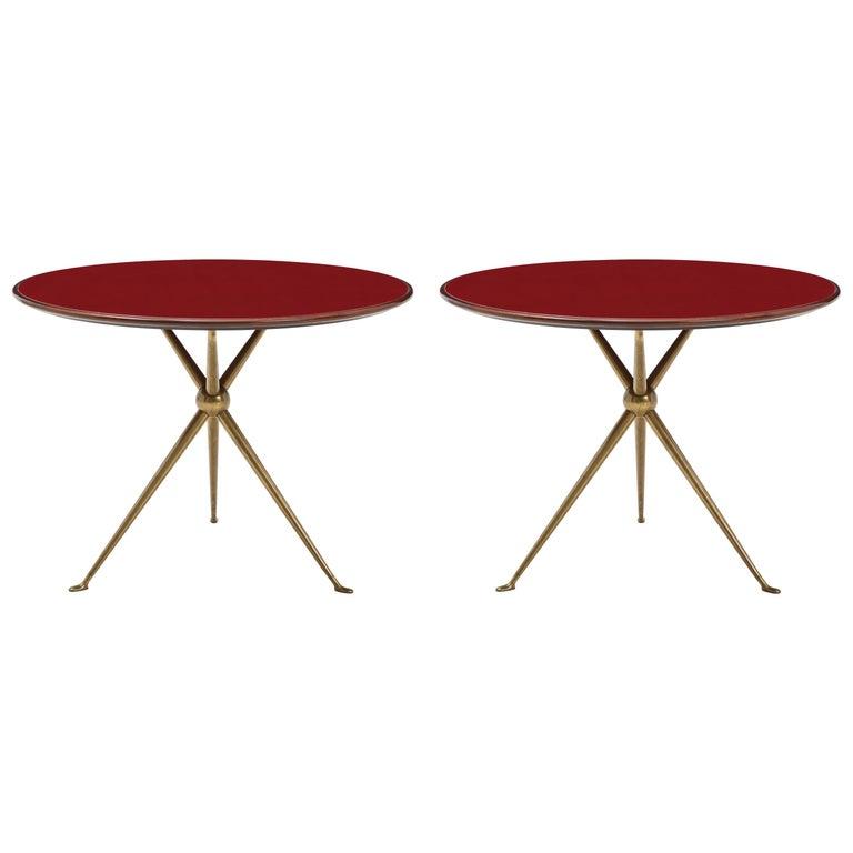 Osvaldo Borsani Rare Pair of Side Tables For Sale