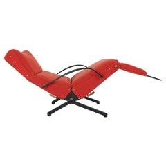 "Osvaldo Borsani Red ""P40"" Lounge Chair for Tecno, 1950 Italy"