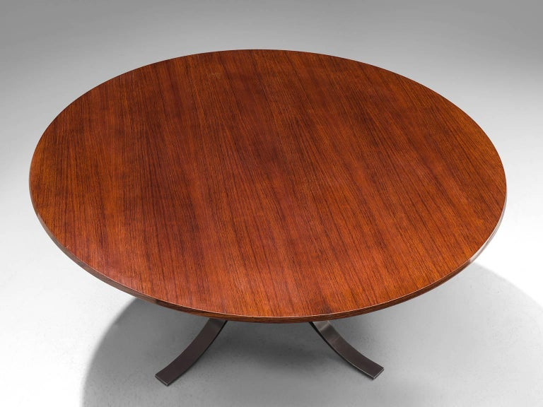 Mid-20th Century Osvaldo Borsani Rosewood Table for Tecno For Sale
