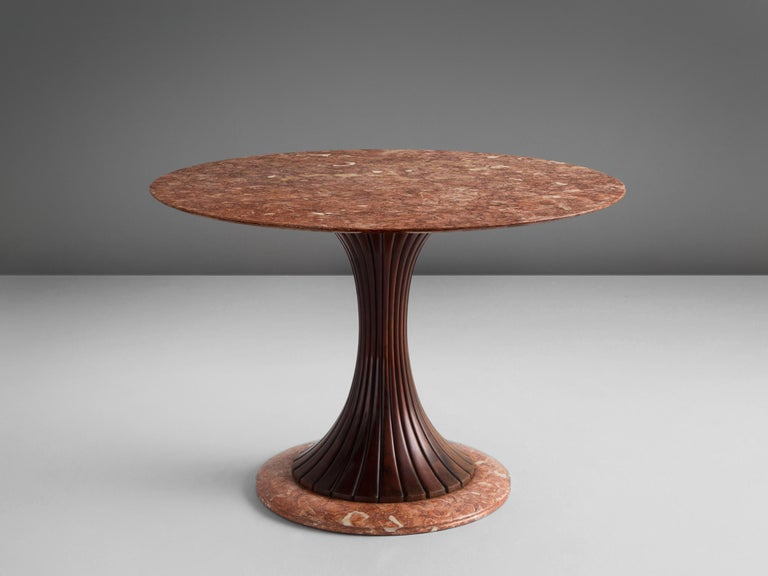 Osvaldo Borsani for Arredamento Borsani, marble wood, Italy, 1950s.